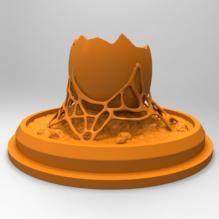 破碎陈旧的蛋_烛台-小工具-3D打印模型-3D城