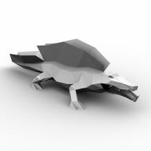 镜湖鳄鱼-动物-爬行动物-CG模型-3D城
