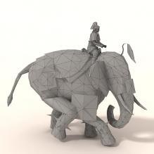 南蛮象-动物-哺乳动物-CG模型-3D城