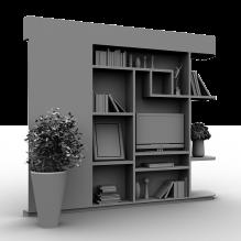 柜架-生活办公用品-办公用品-CG模型-3D城