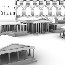 古罗马城市-室外建筑-古建筑-CG模型-3D城