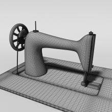 缝纫机-工业设备-工具-CG模型-3D城
