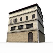 街边建筑-室外建筑-住宅-CG模型-3D城