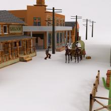 西部老场景-室外建筑-古建筑-CG模型-3D城