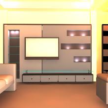 现代室内设计-室内建筑-客厅-CG模型-3D城