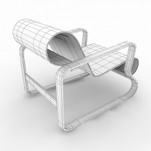 木质扶手椅-家居-桌椅-CG模型-3D城