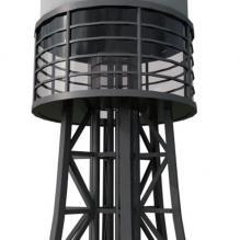 多普勒天气雷达-室外建筑-基础设施-CG模型-3D城