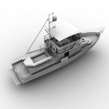 民船-船舶-其它-CG模型-3D城