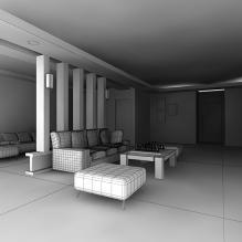 客厅3D模型-室内建筑-客厅-CG模型-3D城