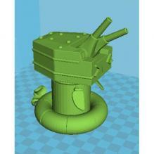 炮塔模型-游戏_玩具-3D打印模型-3D城