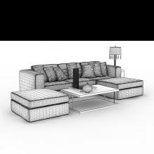 简约沙发-家居-沙发-CG模型-3D城