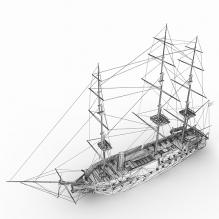 Tall sailing model-船舶-其它-CG模型-3D城