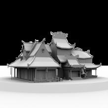 古代游戏小场景-室外建筑-古建筑-CG模型-3D城