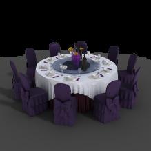 包厢餐桌-家居-桌椅-CG模型-3D城