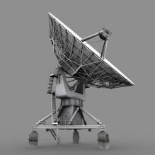 甚大阵射电望远镜-科技医疗-航天卫星-CG模型-3D城