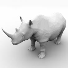 犀牛-动物-哺乳动物-CG模型-3D城