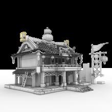 修炼房场景-室外建筑-古建筑-CG模型-3D城