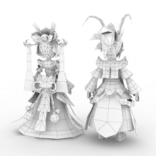 口袋西游婚礼装-人物_角色-角色-CG模型-3D城