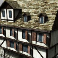 欧洲古建筑-室外建筑-古建筑-CG模型-3D城