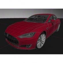特斯拉 model s    Tesla model s  电动车-汽车-家用汽车-CG模型-3D城