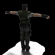 [科幻(Fantasy)] 生化危机1复刻-rebio1-男主角克里斯chris-人物&角色-角色-CG模型-3D城