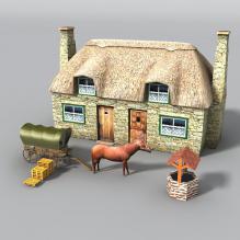 旧农场-室外建筑-古建筑-CG模型-3D城