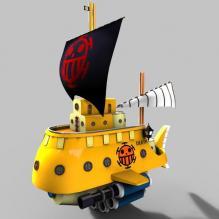 特拉法尔加·罗_潜水艇-艺术-个性创意-CG模型-3D城