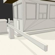 保安亭-室外建筑-基础设施-CG模型-3D城