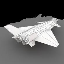 中国新版歼20战机首飞成功-飞机-军事飞机-CG模型-3D城