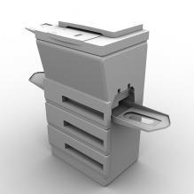 激光打印机-生活办公用品-办公用品-CG模型-3D城