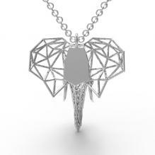 镂空小象吊坠-首饰-3D打印模型-3D城