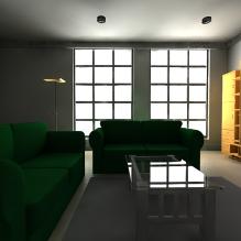 室内装潢-室内建筑-客厅-CG模型-3D城