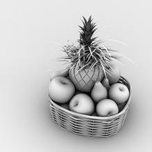 果篮-食品-水果-CG模型-3D城