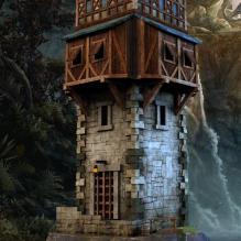 中世纪塔楼3D模型-室外建筑-CG模型-3D城