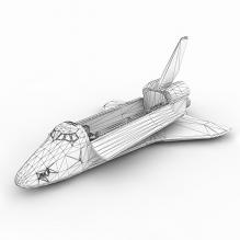 航天飞机轨道器-科技医疗-航天卫星-CG模型-3D城