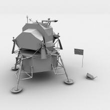 登月器-科技医疗-航天卫星-CG模型-3D城
