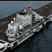 辽宁号航空母舰-船舶-军事船舶-CG模型-3D城