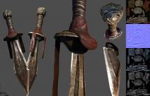 匕首-军事_武器-古代兵器-CG模型-3D城