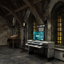 秘密研究室-室内建筑-科幻-CG模型-3D城