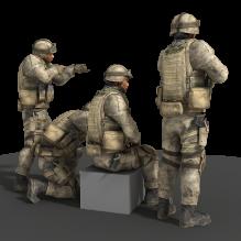 士兵-人物_角色-男人-CG模型-3D城