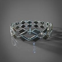 菱形手镯-首饰-3D打印模型-3D城