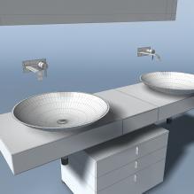 洗手台-室内建筑-卫浴-CG模型-3D城