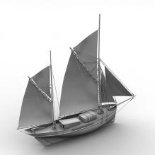 双桅帆船-船舶-其它-CG模型-3D城