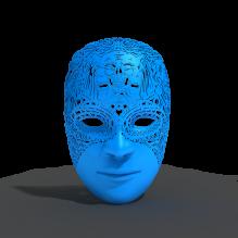 酷炫面具-时尚-3D打印模型-3D城