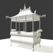 古建筑香炉-室外建筑-古建筑-CG模型-3D城