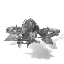 科幻战机 -飞机-私人飞机-CG模型-3D城
