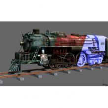 火车头-汽车-火车-CG模型-3D城