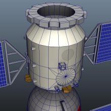 神舟十号宇宙飞船-科技医疗-航天卫星-CG模型-3D城