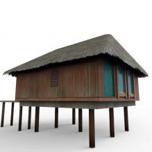 马尔代夫海上宾馆-室内建筑-酒店-CG模型-3D城