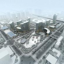 概念CBD-室外建筑-科幻-CG模型-3D城